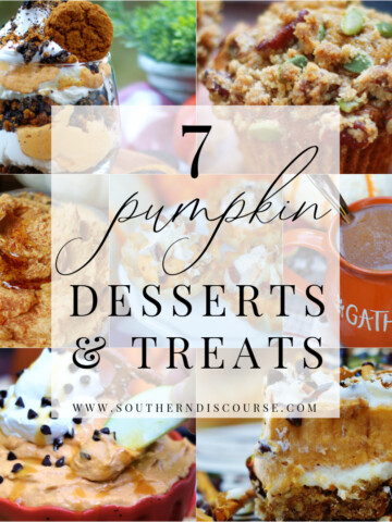 7 pumpkin desserts and treat recipes title collage