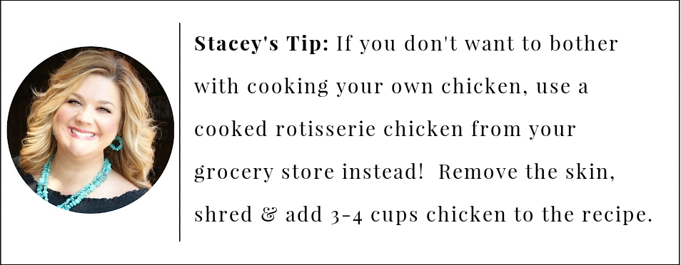 short cut tip for spinach artichoke chicken casserole